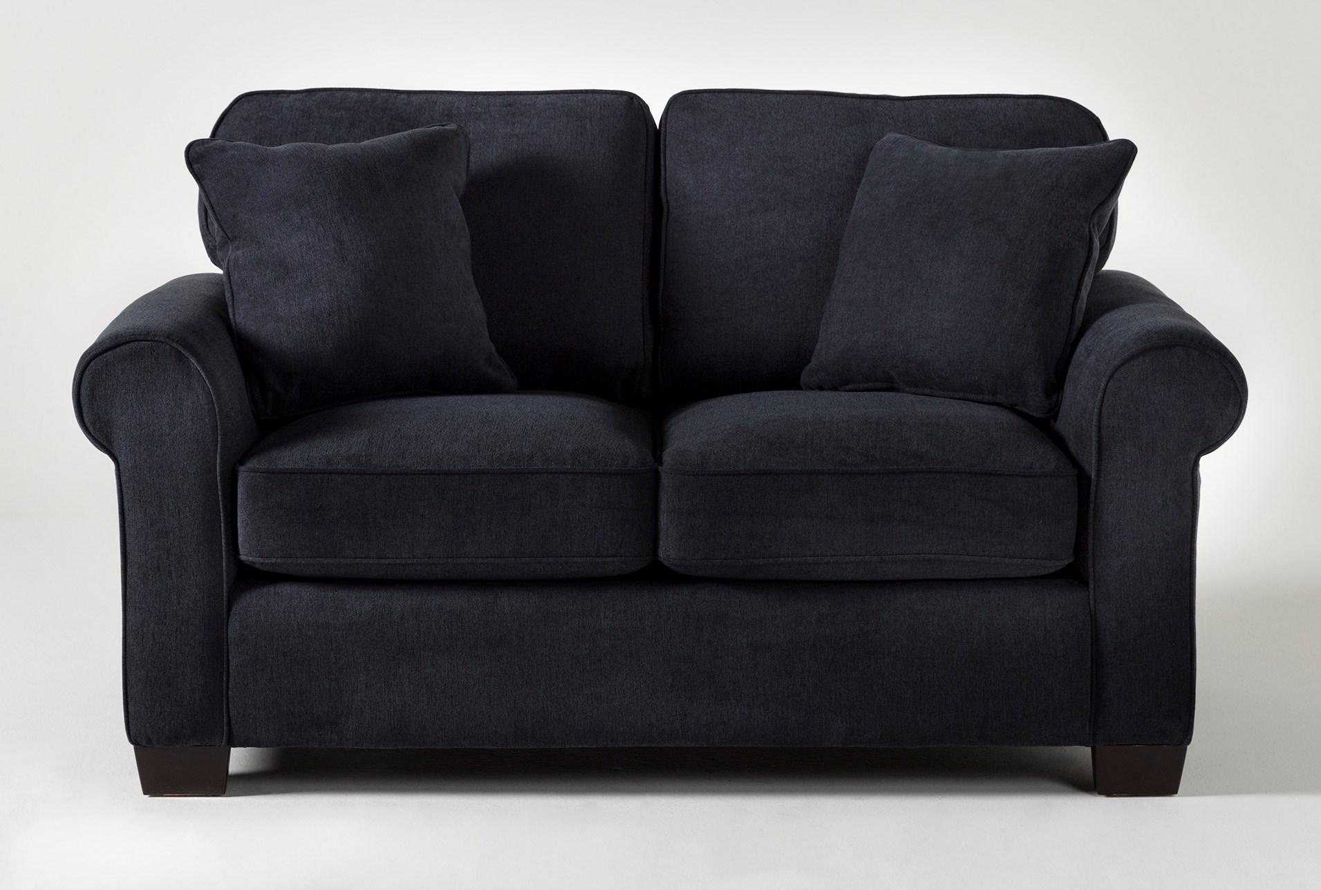 Margot Denim Twin Sleeper Sofa With Pillow Top Mattress ...