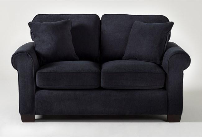 Margot Denim Twin Sleeper Sofa With Pillow Top Mattress - 360