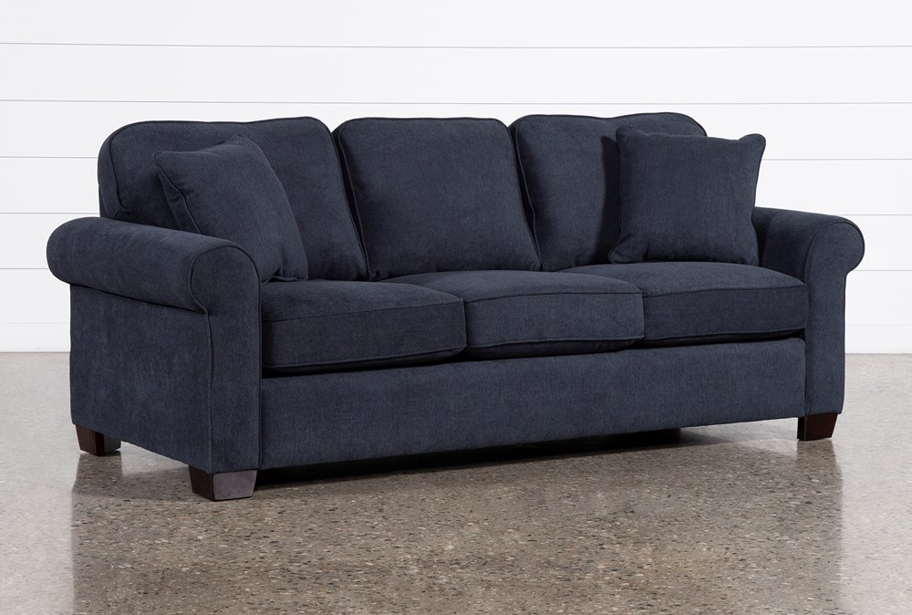 """Margot Denim 89"""" Queen Sleeper Sofa With Innerspring Mattress"""