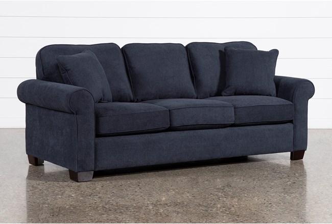 Margot Denim Queen Sleeper Sofa With Innerspring Mattress - 360