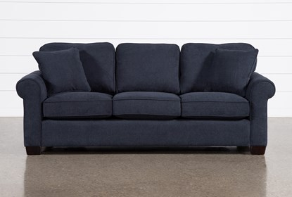 Margot Denim Queen Sleeper Sofa With Memory Foam Mattress Living