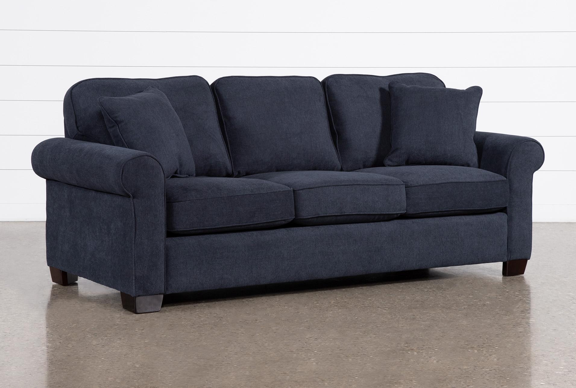 - Margot Denim Queen Sleeper Sofa With Memory Foam Mattress Living