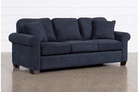 Margot Denim Queen Sleeper Sofa With Memory Foam Mattress