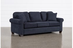 "Margot Denim 89"" Queen Sleeper Sofa With Pillow Top Mattress"