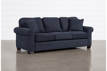 Margot Denim Queen Sleeper Sofa With Pillow Top Mattress