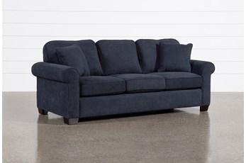 """Margot Denim 89"""" Queen Sleeper Sofa With Pillow Top Mattress"""