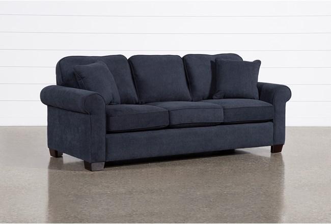 Margot Denim Queen Sleeper Sofa With Pillow Top Mattress - 360
