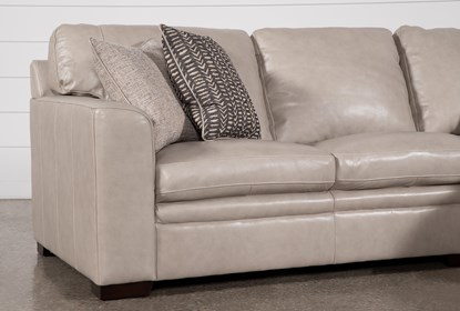 Fine Greer Stone Leather 2 Piece Sectional With Right Arm Facing Chaise Left Arm Facing Loveseat Customarchery Wood Chair Design Ideas Customarcherynet