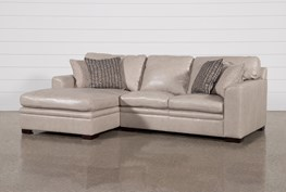 """Greer Stone Leather 2 Piece 108"""" Sectional With Left Arm Facing Chaise & Right Arm Facing Loveseat"""