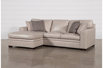 "Greer Stone Leather 2 Piece 108"" Sectional With Left Arm Facing Chaise & Right Arm Facing Loveseat"