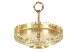12 Inch Gold Tray Stand