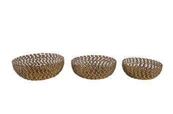 Bronze Textured Bowls Set Of 3