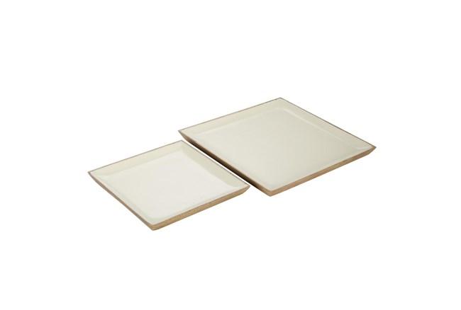 Off White Tray Set Of 2 - 360