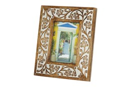 Wood White Design Photo Frame 5X7