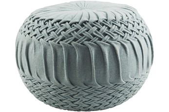 Pouf-Denim Knitted Round