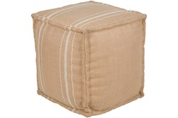 Pouf-Jute Camel And White