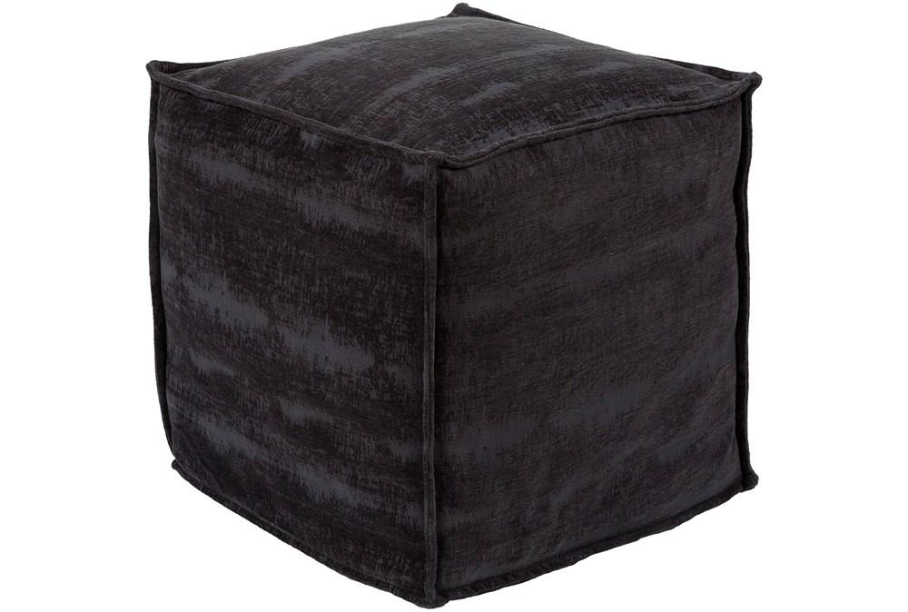 Pouf-Chenille Cotton Black