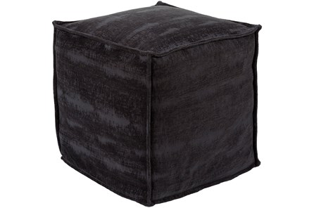 Pouf-Chenille Cotton Black