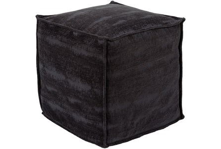 Pouf-Chenille Cotton Black - Main