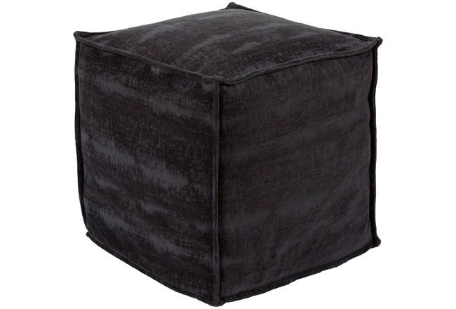 Pouf-Chenille Cotton Black - 360