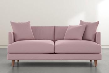 """Adeline II 81"""" Pink Velvet Sofa"""
