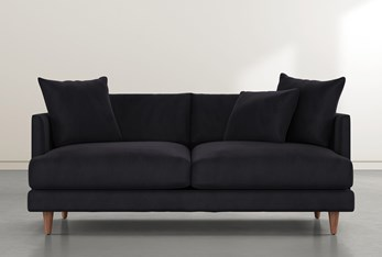 "Adeline II 81"" Dark Grey Velvet Sofa"