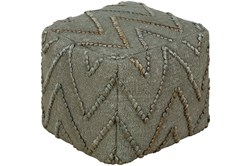 Pouf-Jute Chevron Green