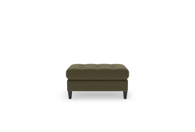 Magnolia Home Sinclair Luxe Moss Ottoman By Joanna Gaines - 360