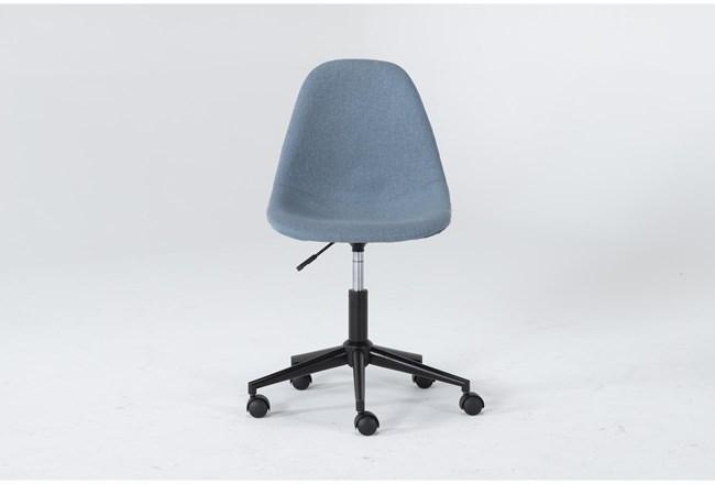 Archie Blue Desk Chair - 360