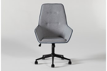 Jetson High Back Grey Desk Chair