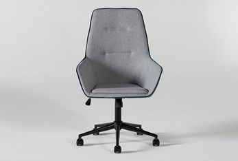 Jetson High Back Grey Rolling Office Chair