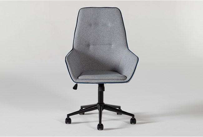 Jetson High Back Grey Desk Chair - 360