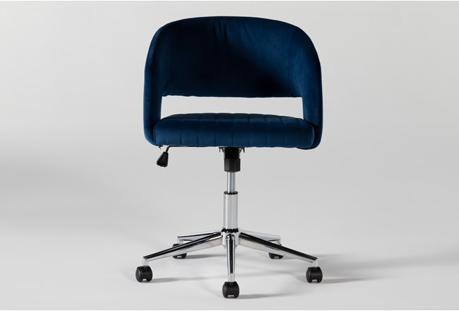 Phoebe Blue Office Chair - 360
