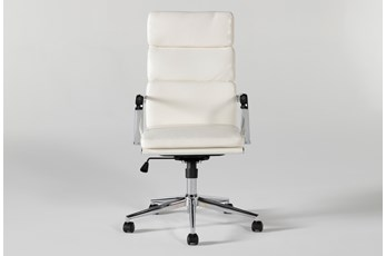 Moby White High Back Desk Chair