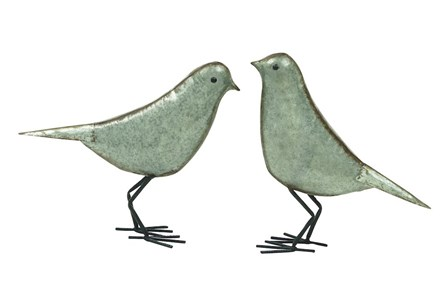 Metal Birds Set Of 2