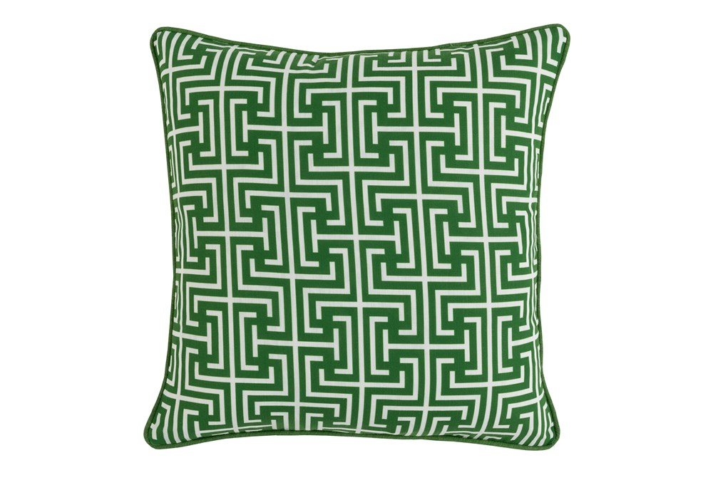 Outdoor Accent Pillow-Palm Greek Key 20X20