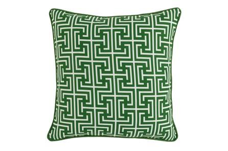 Outdoor Accent Pillow-Palm Greek Key 20X20 - Main