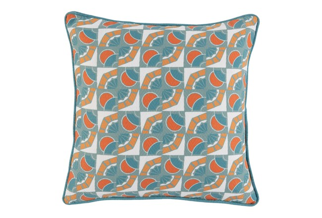Outdoor Accent Pillow-Carnelian And Mineral Deco 18X18 - 360