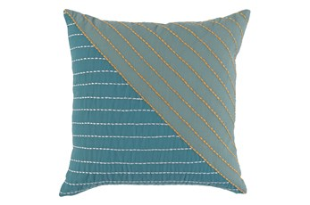 Outdoor Accent Pillow-Mineral Top Stitch 18X18