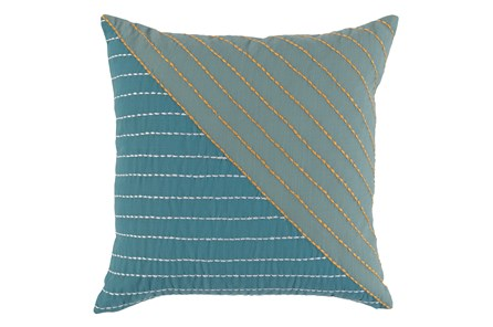 Outdoor Accent Pillow-Mineral Top Stitch 18X18 - Main