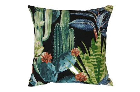 Outdoor Accent Pillow-Foliage Ebony 18X18 - Main