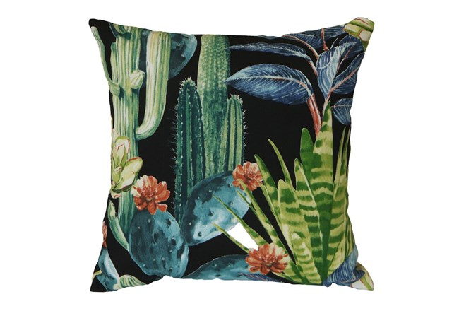 Outdoor Accent Pillow-Foliage Ebony 18X18 - 360