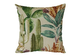 Outdoor Accent Pillow-Foliage Multi 18X18