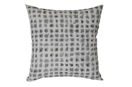 Outdoor Accent Pillow-Grey Tie Dye Squares 18X18