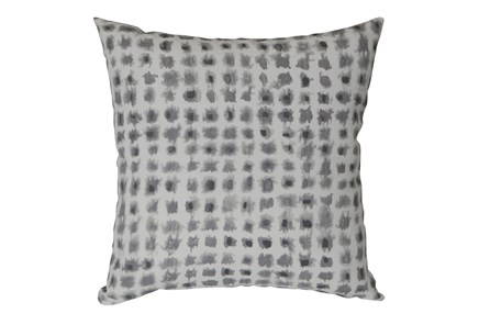 Outdoor Accent Pillow-Grey Tie Dye Squares 18X18 - Main