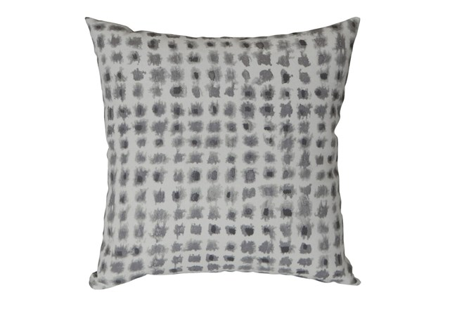 Outdoor Accent Pillow-Grey Tie Dye Squares 18X18 - 360