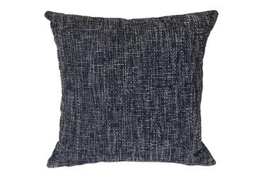 Outdoor Accent Pillow-Navy Textural 18X18