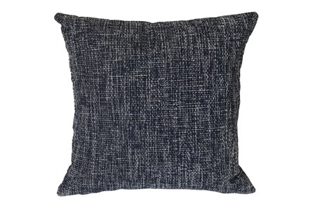 Outdoor Accent Pillow-Navy Textural 18X18 - Main