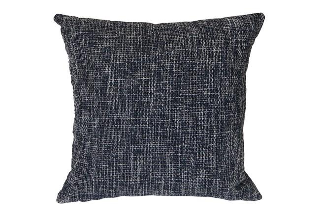 Outdoor Accent Pillow-Navy Textural 18X18 - 360