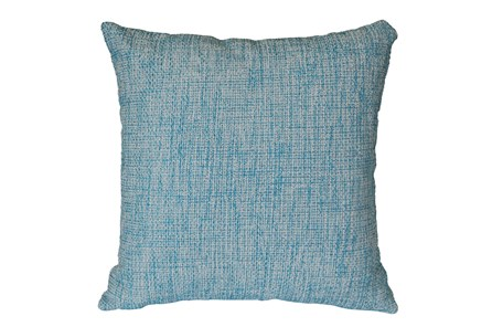 Outdoor Accent Pillow-Teal Textural 18X18 - Main